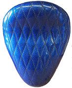 "13"" SOLO SEAT BLUE METAL FLAKE DIAMOND TUK"
