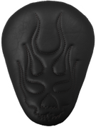 "13"" ELIMINATOR SOLO SEAT BLACK FLAME SKULL"