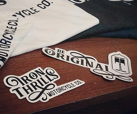 Iron Thrills Be Original Decal 2PK