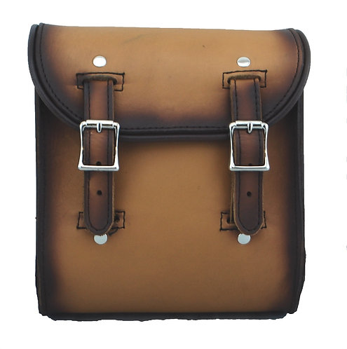 UNIVERSAL LEATHER SISSY BAR BAG - ANTIQUE TAN LEATHER PLAIN