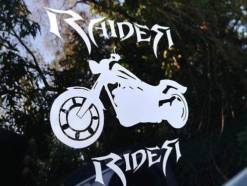 Raider Rider Window Decal