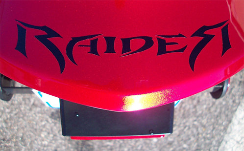 RAIDER REAR FENDER DECAL