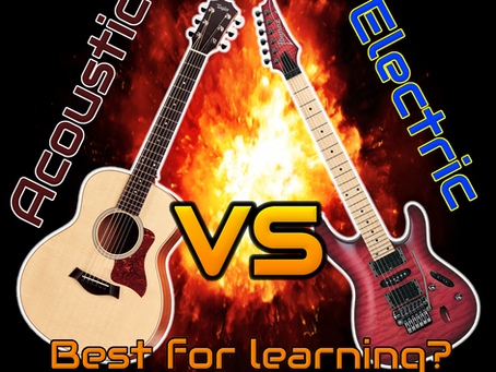 Is it better to learn on acoustic or electric?