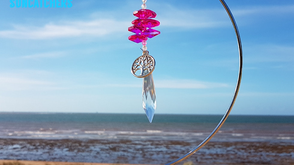 Suncatcher - Icycle Magenta Crystal (without stand)