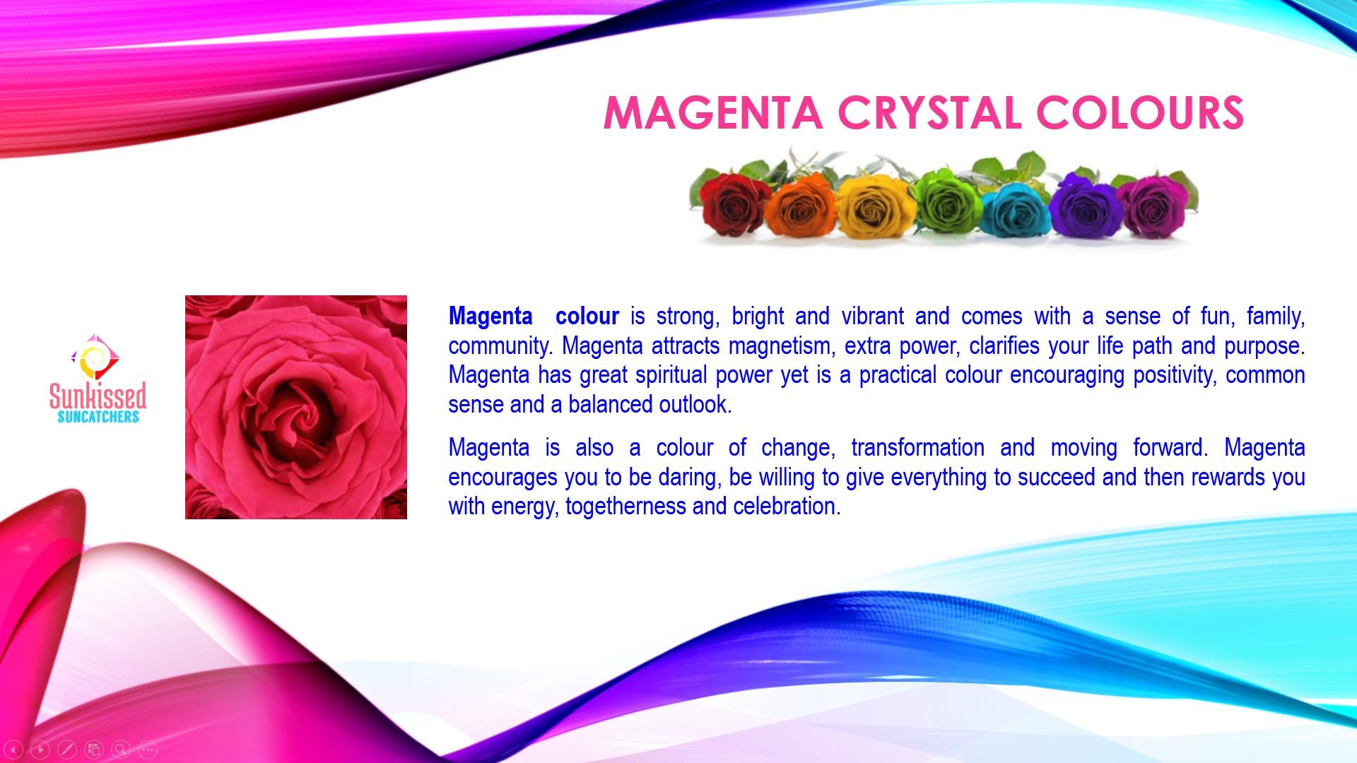 Sunkissed Suncatchers 9 Magenta Colours