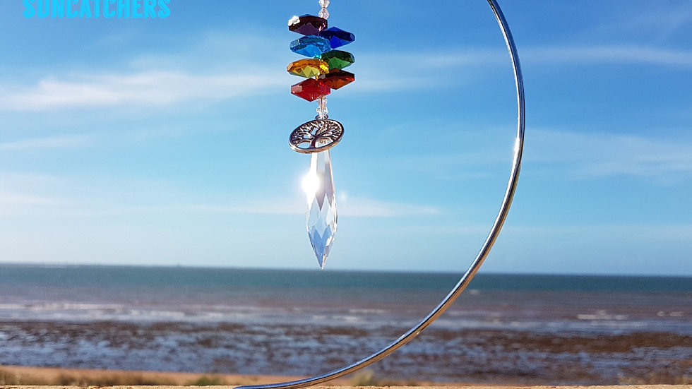 Suncatcher - Icycle Chakra Crystal (without stand)