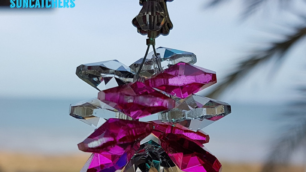 Suncatcher - Good Kharma Magenta Crystals
