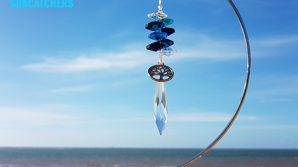 Suncatcher - Icycle Ocean Blues Crystal (without stand)