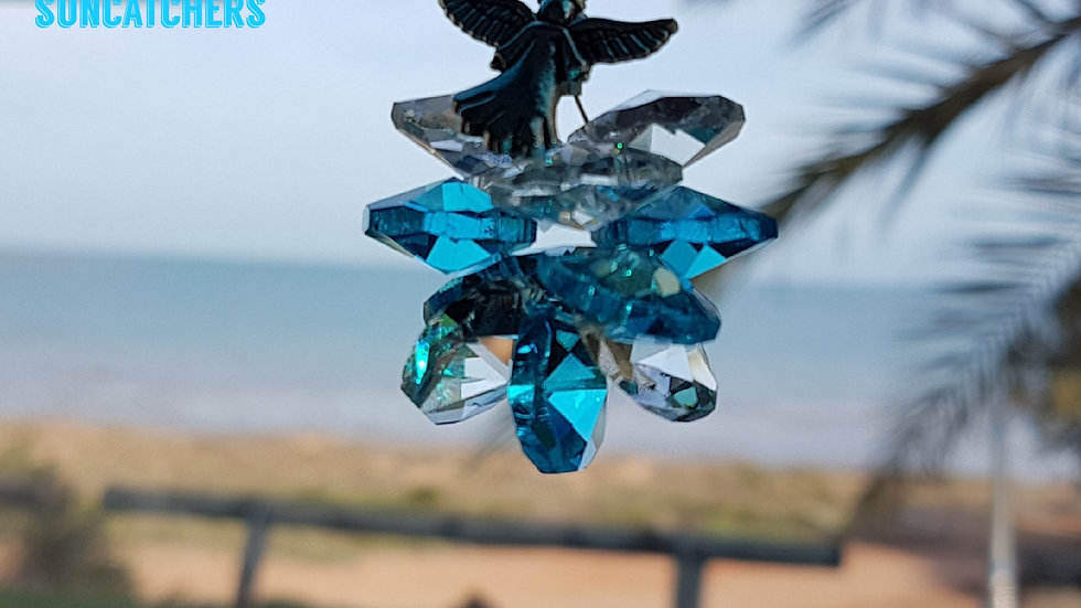 Suncatcher - Good Kharma Sky Blue Crystals
