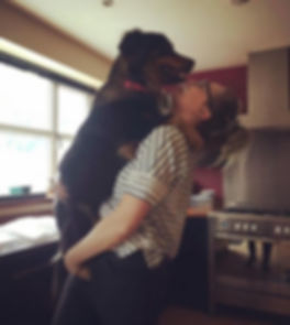Pixie and her owner Paige