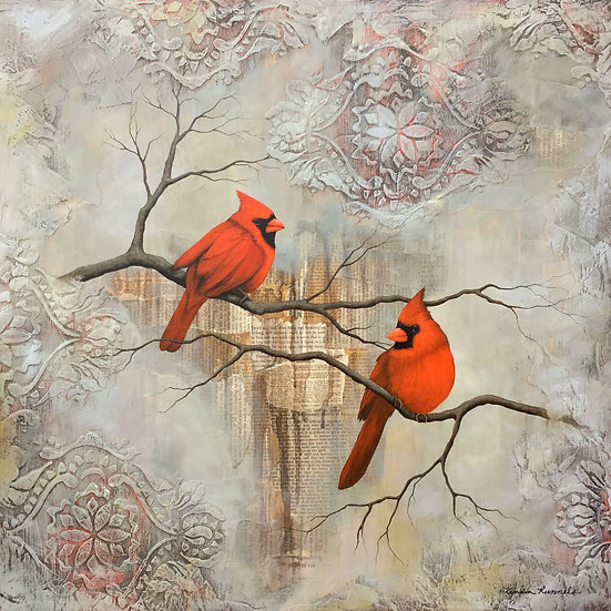 A Pair of Cardinals - Limited Edition Giclée