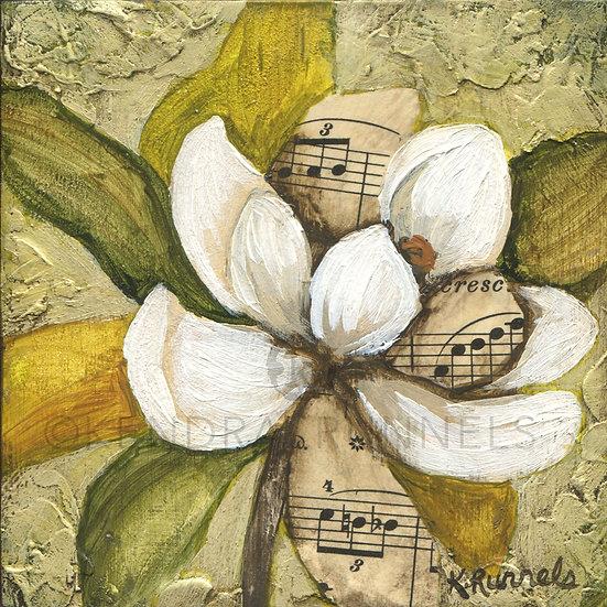 Magnolia Study #2 - Original Mixed Media Painting