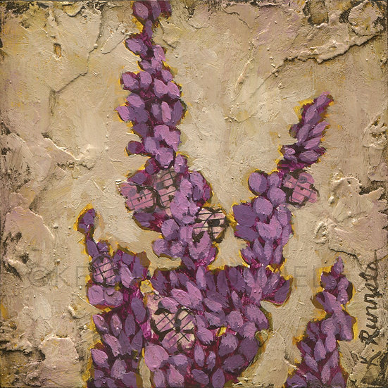 Lavendar Study - Original Mixed Media Painting
