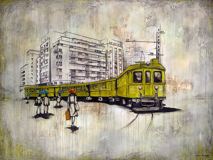 Green Tram - Limited Edition Giclée
