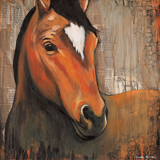 Neigh - Original Mixed Media Painting