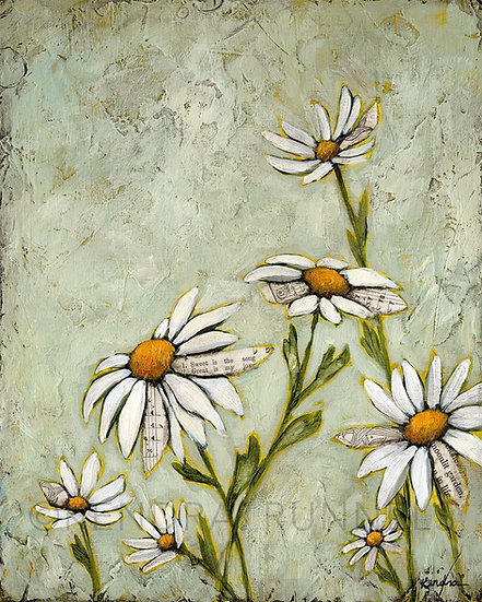 "Tangled Garden #2 - 8""x10"" Original Mixed Media Painting"