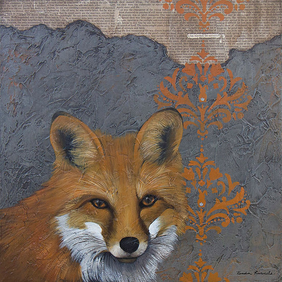 A Fox Watched The Cottontail - Limited Edition Giclée