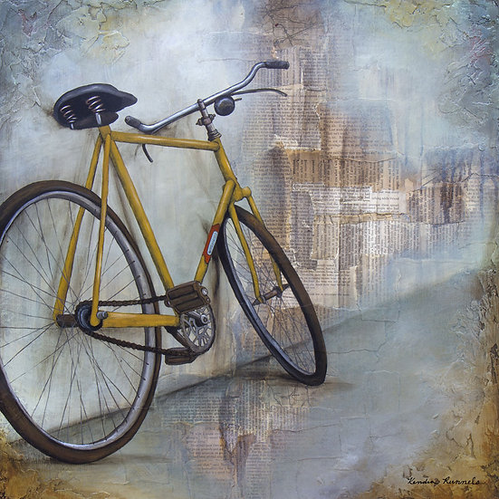 The Yellow Bicycle - Limited Edition Giclée
