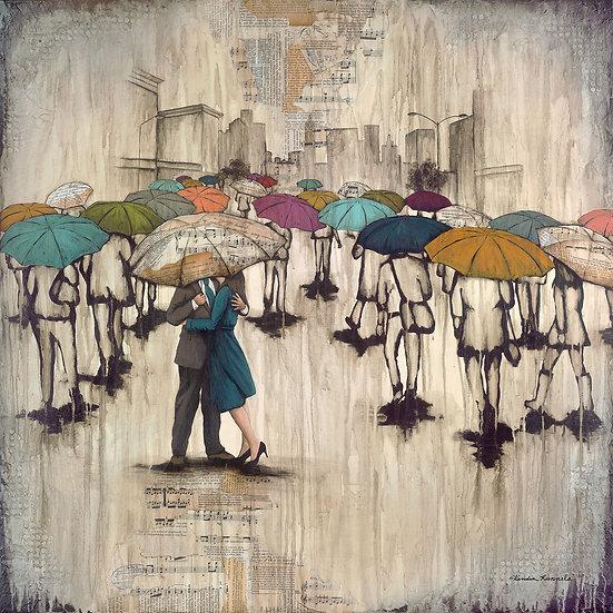 Love In The Rain #2 - Original Mixed Media Painting