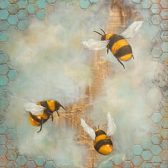 Bees #3 - Limited Edition Giclée