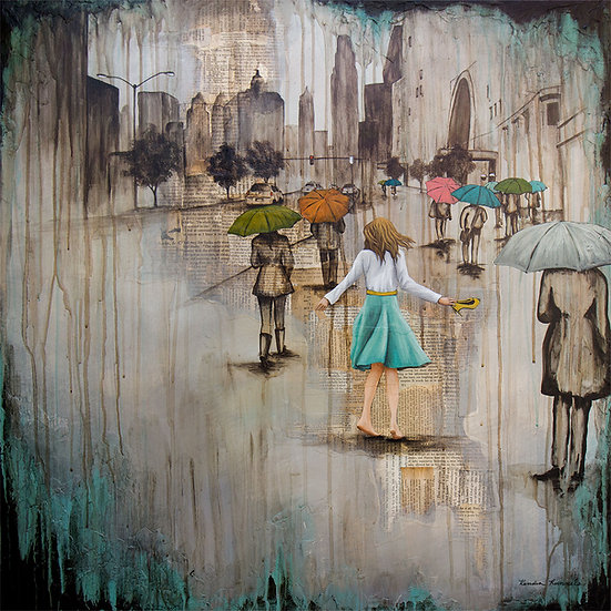 Dancing Barefoot In The Rain - Limited Edition Giclée