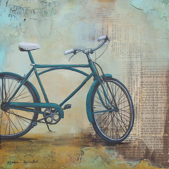 Blue Bicycle - Limited Edition Giclée