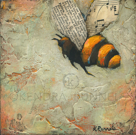Bee Study #3 - Original Mixed Media Painting