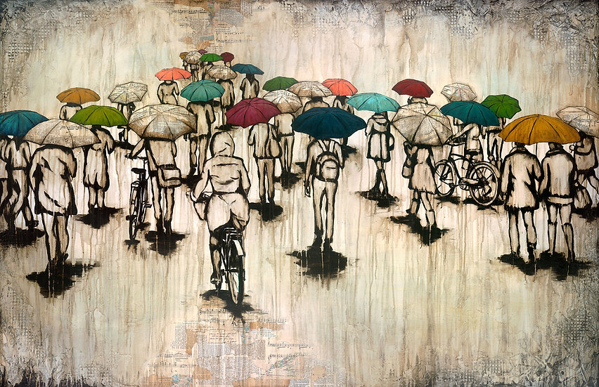 A Ride In The Rain - Limited Edition Giclée