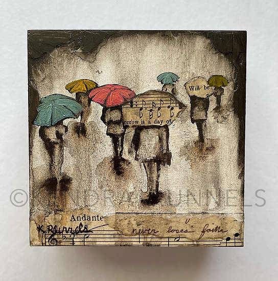 Rain Study #5 - Original Mixed Media Painting