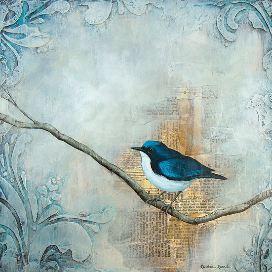 Blue Robin - Limited Edition Giclée
