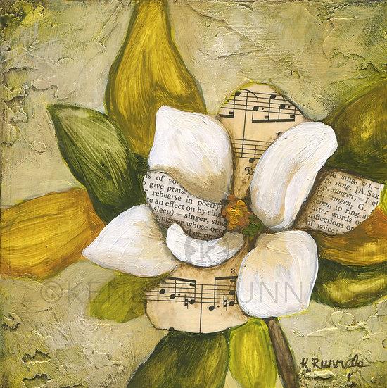 Magnolia Study #3 - Original Mixed Media Painting