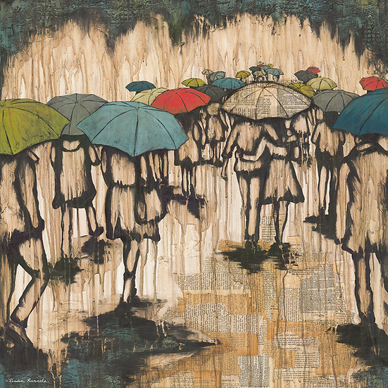 Walk With Me In The Rain - Limited Edition Giclée