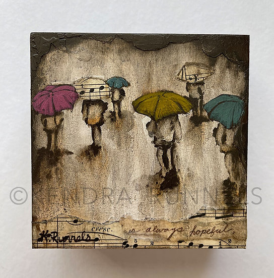Rain Study #6 - Original Mixed Media Painting
