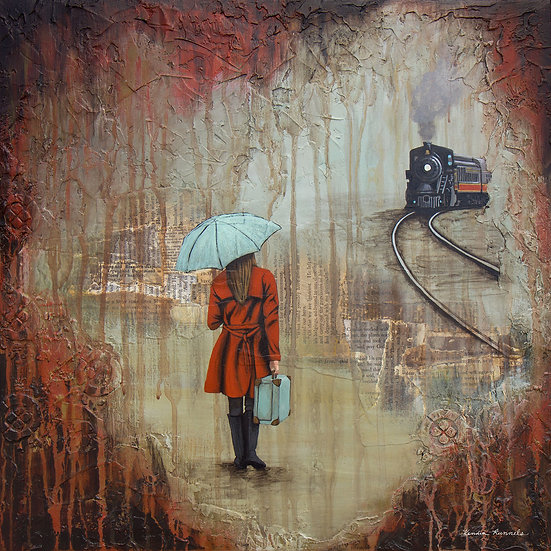 The Woman In The Red Coat - Limited Edition Giclée