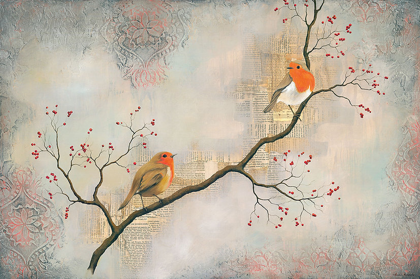 Two Robins - Limited Edition Giclée