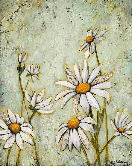 "Tangled Garden #1 - 8""x10"" Original Mixed Media Painting"