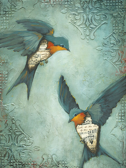 Two Barn Swallows - Limited Edition Giclée