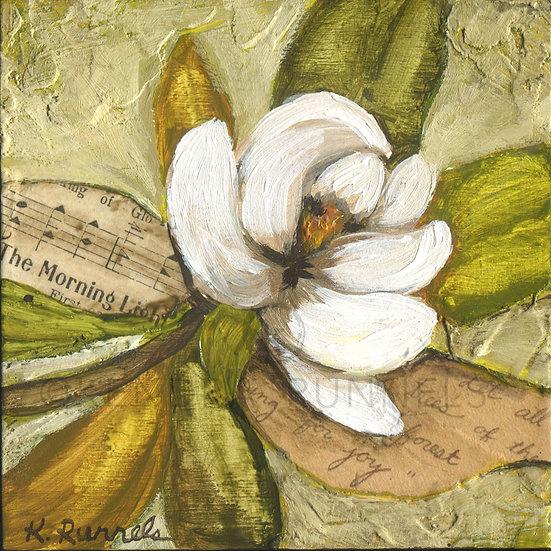 Magnolia Study #1 - Original Mixed Media Painting