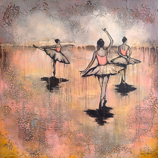 Three Ballerinas - Limited Edition Giclée