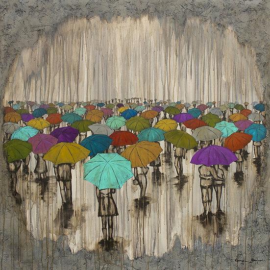 A Sea of Umbrellas - Limited Edition Giclée