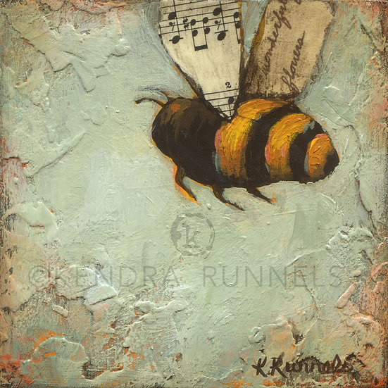 Bee Study #2 - Original Mixed Media Painting