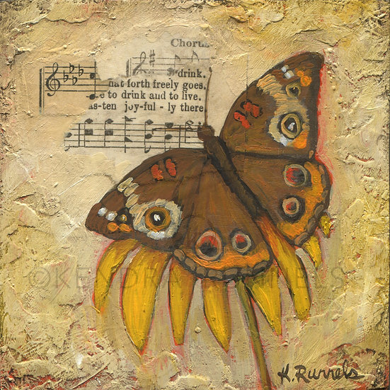 Butterfly Study - Original Mixed Media Painting