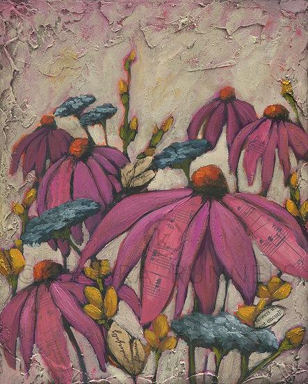 Dreaming In Bloom - Original Mixed Media Painting