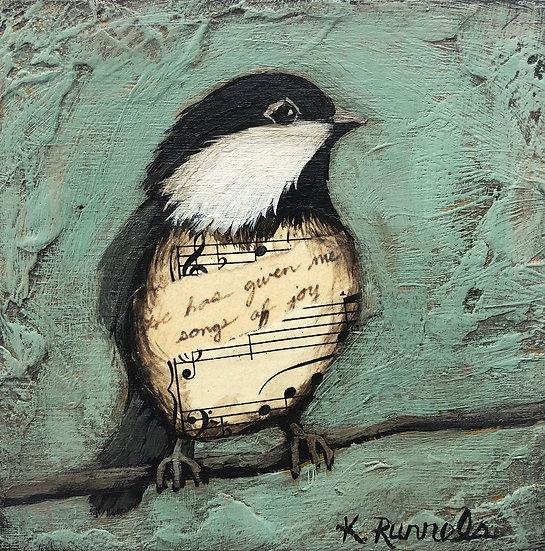Bird Study #2 - Original Mixed Media Painting