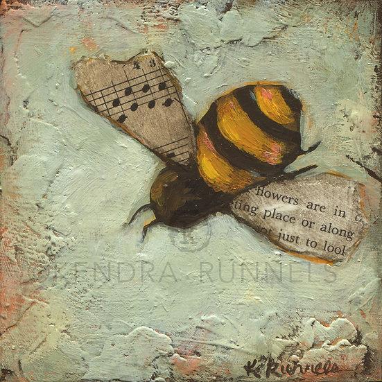 Bee Study #1 - Original Mixed Media Painting