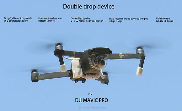 Double Drop device for DJI Mavic Pro