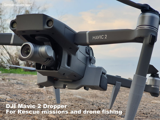 DJI Mavic 2 zoom pro enterprise Dropper for Rescue missions and drone fishing