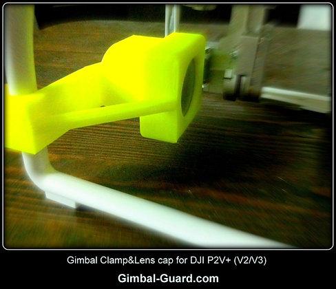 Gimbal clamp & lens cover for DJI P2V+ (V2/V3)