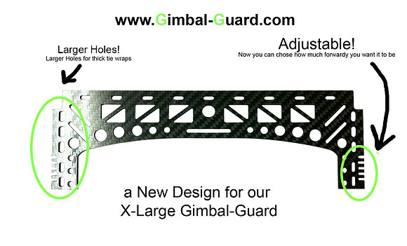 23cm /2mm Extended Gimbal-Guard For TALL skids