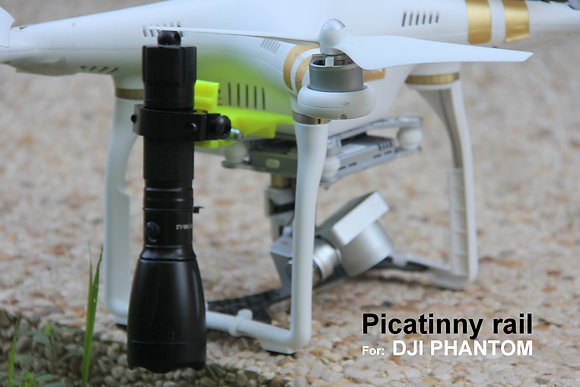 Picatinny rail & GoPro Connector for DJI Phantom